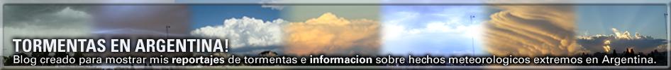 Tormentas en Argentina