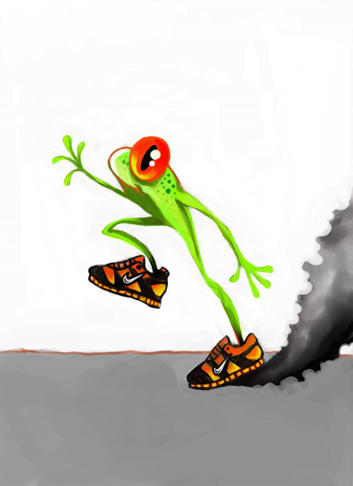 running frog