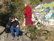 Here&#39;s an old picture i found of Charlie sitting outside the Dalai Lama&#39;s house, India, 2005