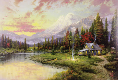 Thomas Kinkade, Evening Majesty, Park West Gallery Collection