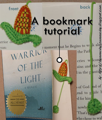 How-to make an ear of corn bookmark