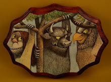 Where the WIld Things Are Upcycled Clock