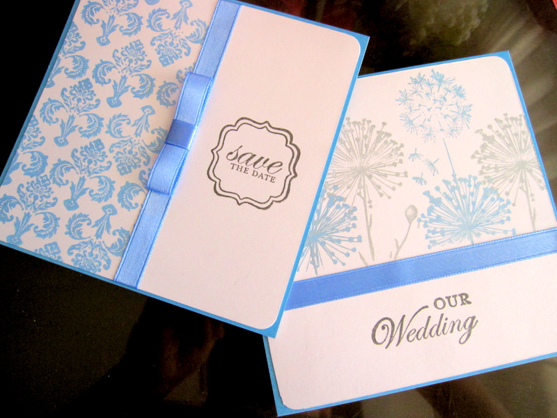The BubblesCraft Shop: Wedding Invitation - Blue and Red Theme