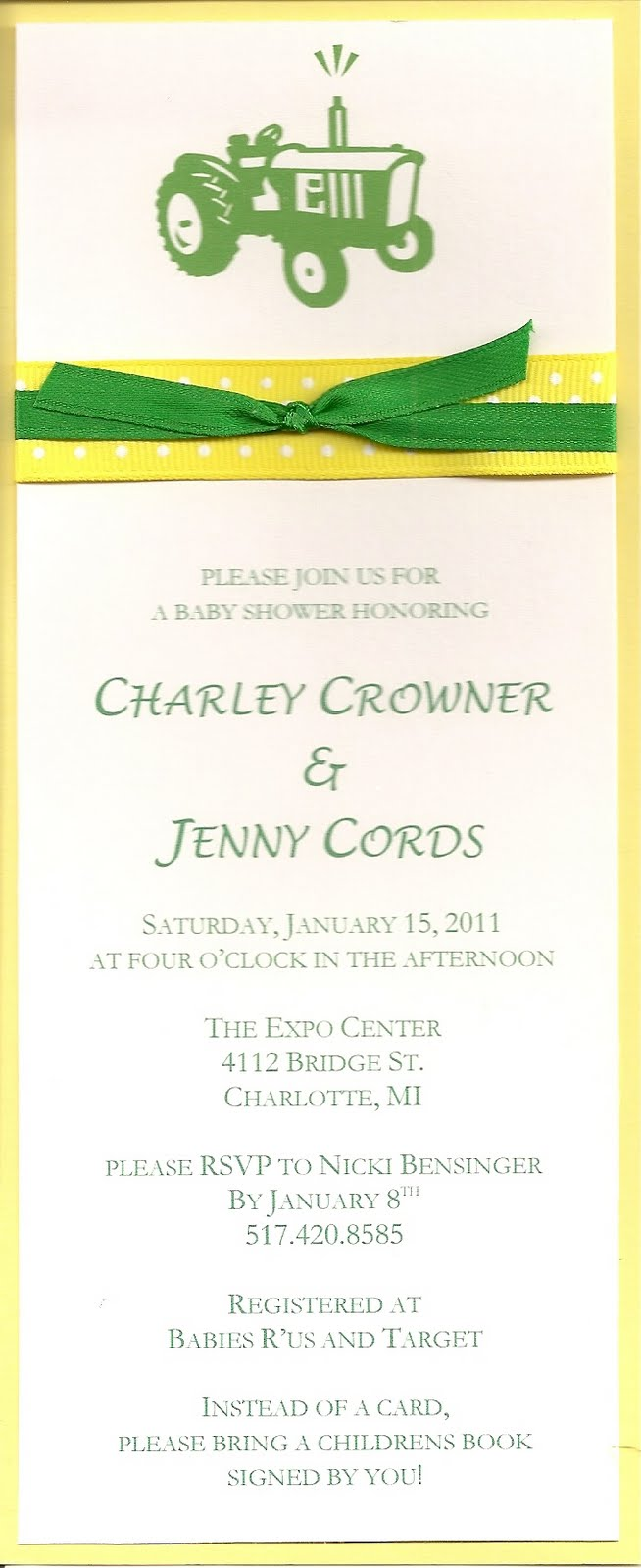 JDesigns: Farm Baby Shower Invitations!