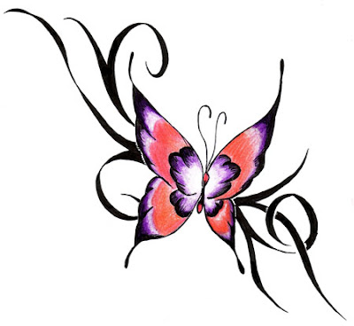 flower tattoo trendy free butterfly tattoo design pictures. Black Bedroom Furniture Sets. Home Design Ideas