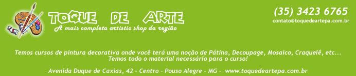 Toque de Arte - Materiais para artesanato, peças em mdf, pincéis, tintas para madeira etc.