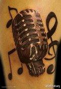 Realistic Radio Microphone Tattoo