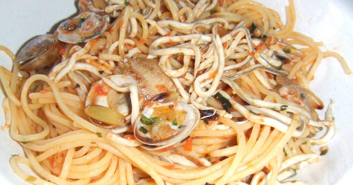 Los fogones de chus espaguetis con gulas y chirlas - Espaguetis con chirlas ...