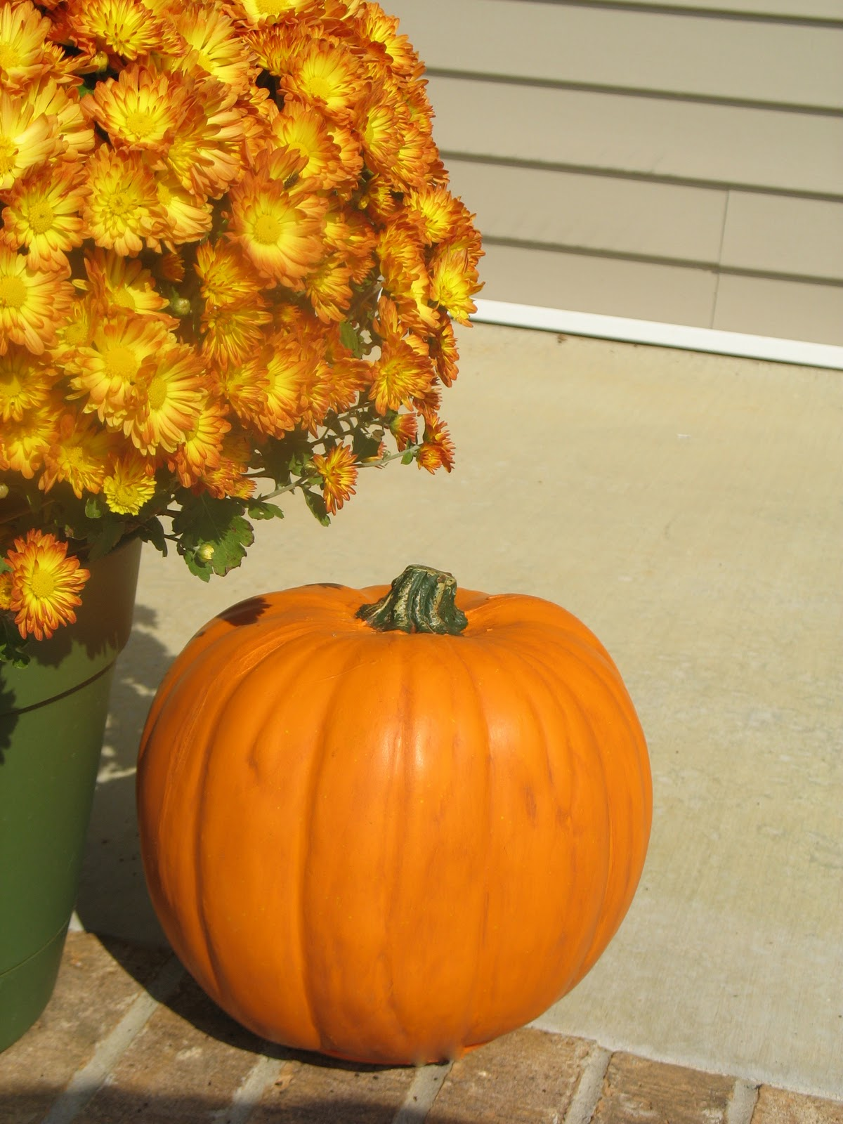 Pretty faux pumpkin