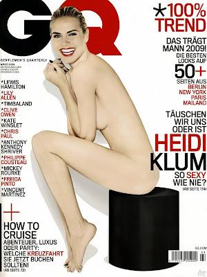 Heidi Klum goala in GQ