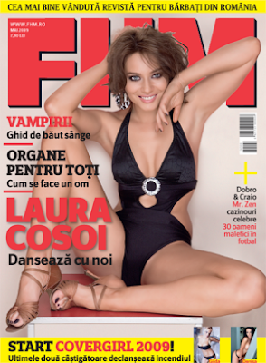 Laura Cosoi in revista FHM