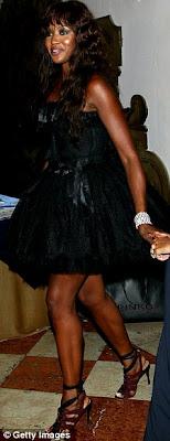Naomi Campbell upskirt