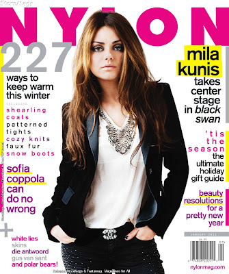 Hot Mila Kunis in Nylon Magazine