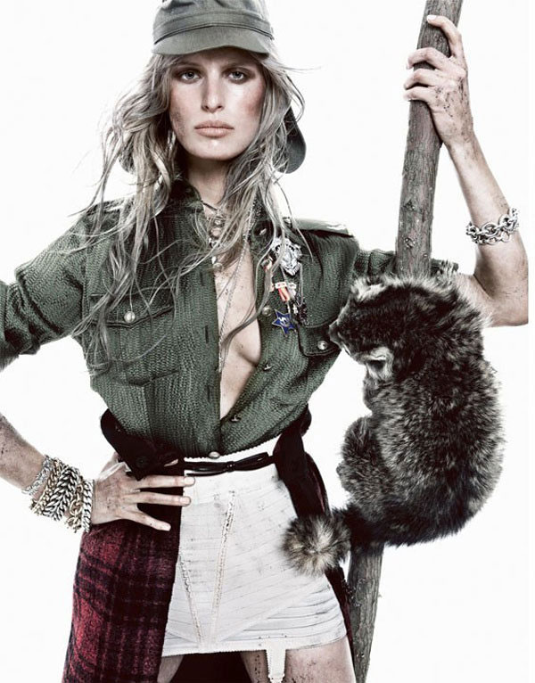 Karolina Kurkova Got Pretty Dirty for Spain Vogue