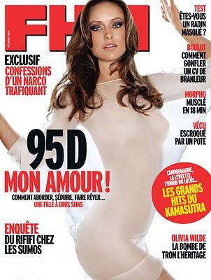 Olivia Wilde topless pe coperta FHM Franta