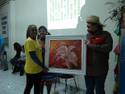 Tela doada pela Artista Plastica  Sra. Glaci