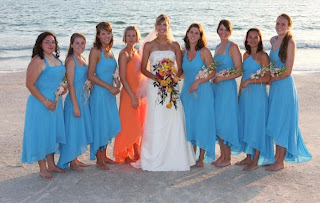 Bridesmaid Dresses With Matching Flower Girl Dress