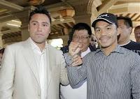 Oscar de la Hoya vs Manny Pacquiao combate boxeo