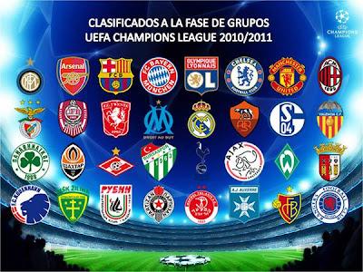 Lista 32 Equipos UEFA Champions League 2010 - 2011