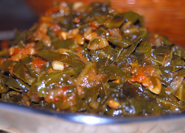 Collard Greens Subzi, Indian style