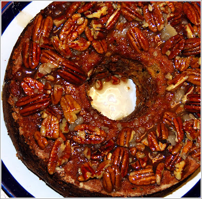 Apple Cake with Caramel Pecan Frosting