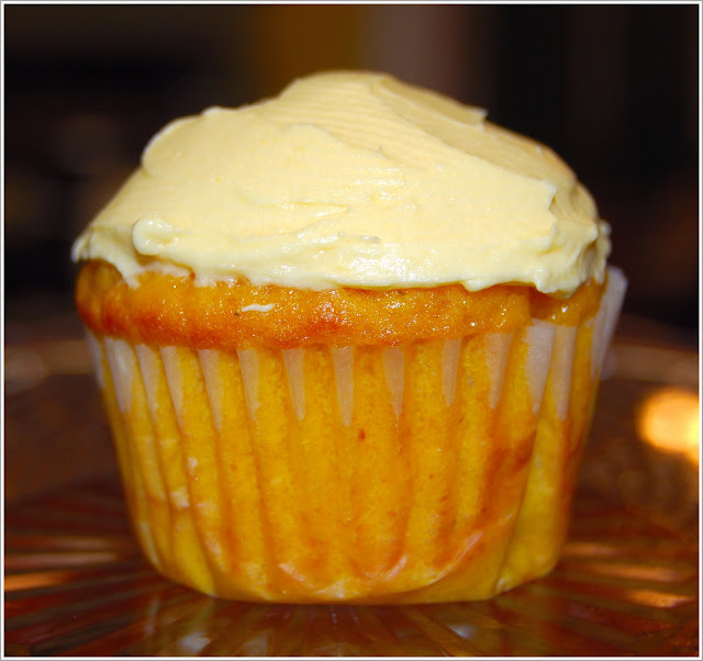 Mango Cupcakes with Mango Buttercream