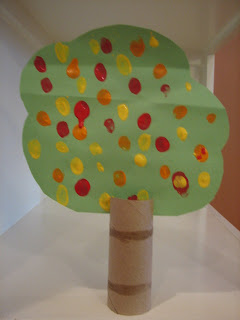 recycled projects for kids: fall toilet paper roll tree