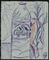 dibujo marrakech marruecos agua mineral marroquí