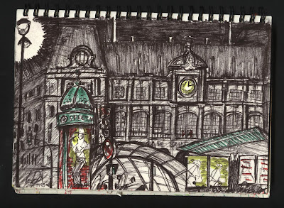 dibujo Gare de Saint Lazare - Paris dessin