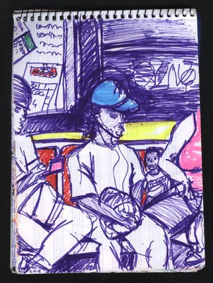 dibujo subway new york city nyc drawing
