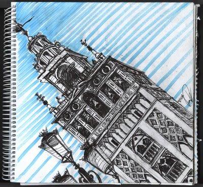 dibujo La Giralda Sevilla. Giralda Seville Drawing. Giralda Seville dessin