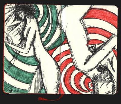 dibujo durmiendo desnudos, sueños de verano