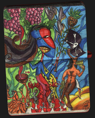dibujo Dionisio dios del vino. Dionysos wine god drawing