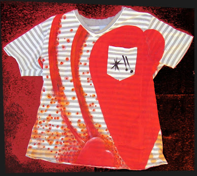 camiseta dibujo Corazón Viajero, Traveler Heart drawing t-shirt