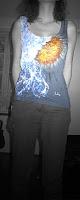 rain hand painted t-shirt, camiseta lluvia pintada a mano