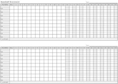 how to score baseball scorecard - Romeo.landinez.co