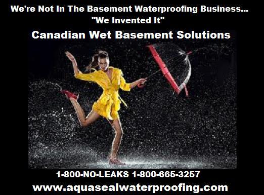 Aquaseal 1 888 750 0848 basement waterproofing contractors for 1 800 basement