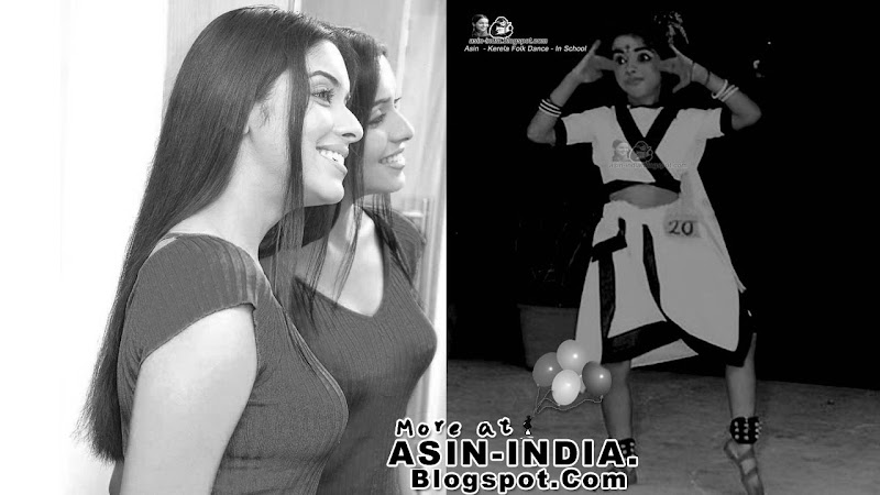 asin acting in her school drama doing kathakali dance