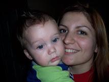 Minha terceira filha e meu neto mais velho