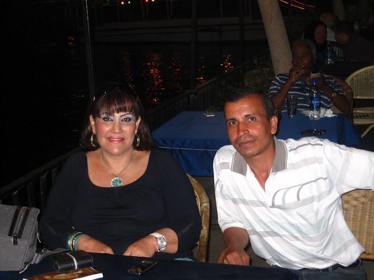 مع الشاعرة وفاء عبد الرزاق فى القاهرة
