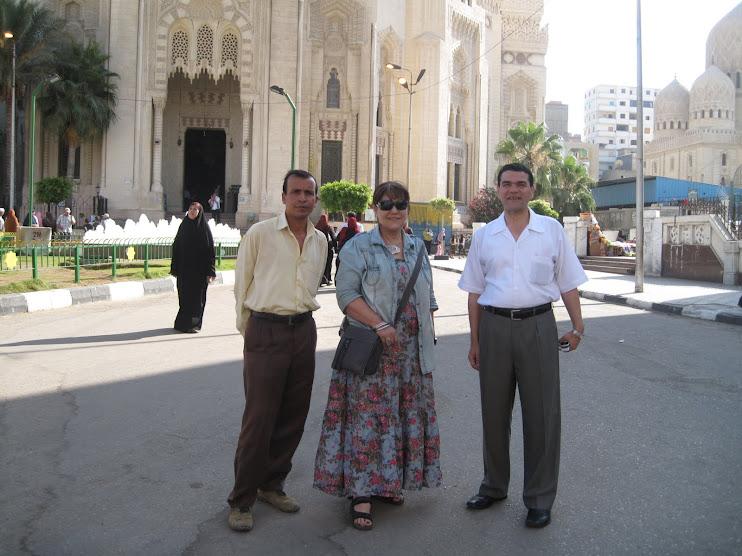 امام المرسى ابو العباس مع الشاعرة وفاء عبد الرزاق والشاعر جابر بسيونى