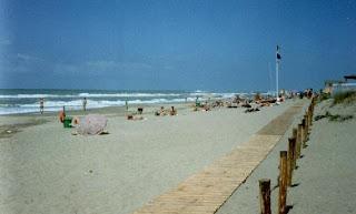 The Nudist Beach of Capocotta Beach in Italy