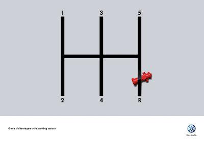 Publicité Volkswagen : radar de recul obligatoire