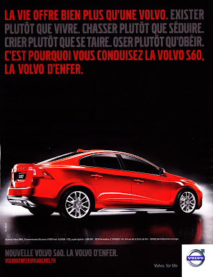 Publicité Volvo S60 : la Volvo d'enfer