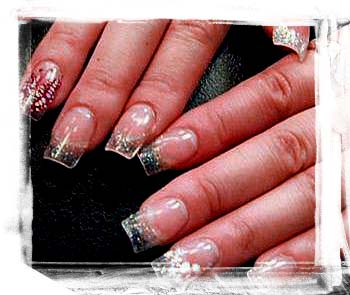 topnails clear acrylic nails with sparkly square tips