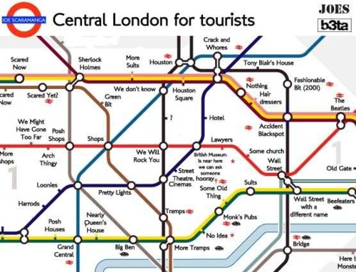 FUNNYPHILO TUBE MAP OF CENTRAL LONDON FOR TOURISTS – Map Of London For Tourists