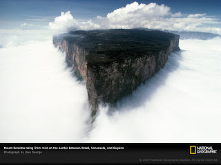 Mount Roraima, Venezuela, Brazil and Guyan