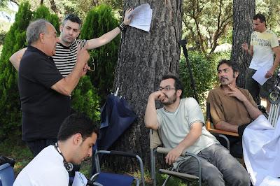 foto de rodaje con los directores y dop