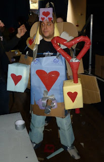 Ravager, Warrior of Love, our winning entry in the Build-a-Mecha panel