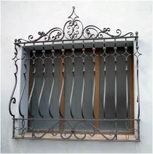 Protector de ventana hecho en hierro forjado
